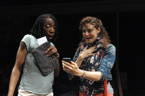 The Call at Theater J Joy Jones & Tessa Klein Photo by Stan Barouh
